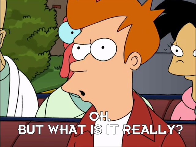 Philip J Fry: Oh. But what is it really?