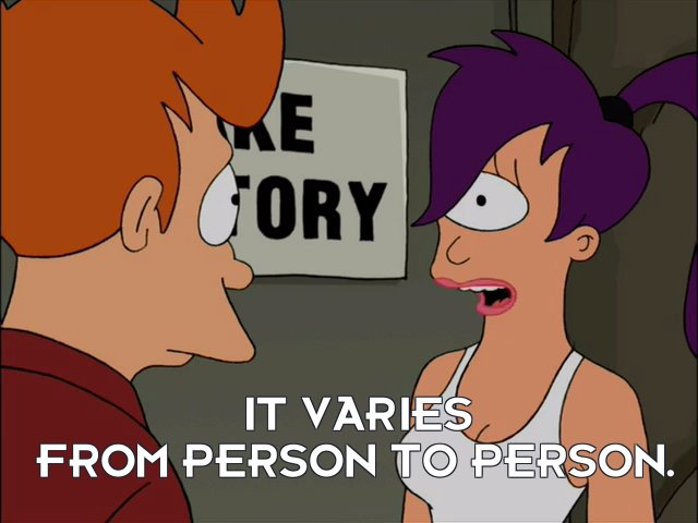 Turanga Leela: It varies from person to person.
