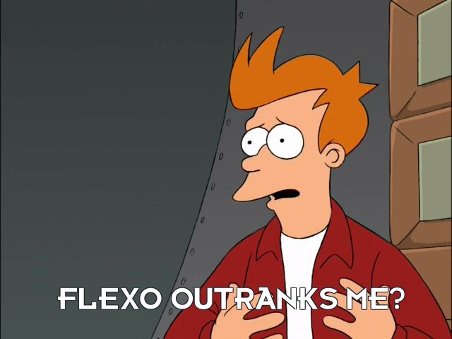 Philip J Fry: Flexo outranks me?