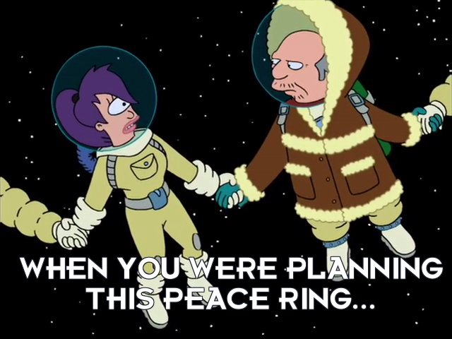 Turanga Leela: When you were planning this peace ring...