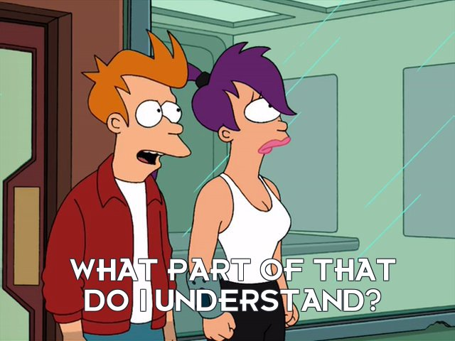 Philip J Fry: What part of that do I understand?