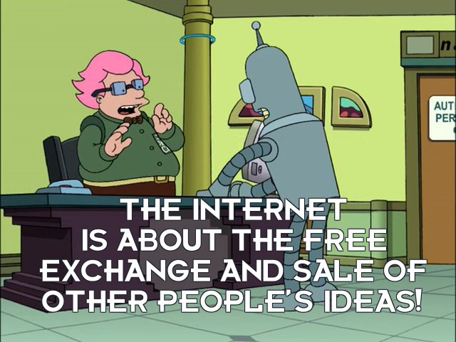 Jeff Jervis: The Internet is about the free exchange and sale of other people's ideas!