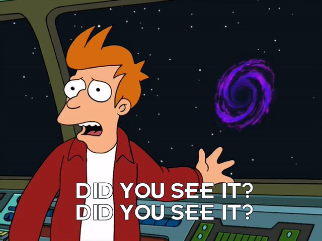 Philip J Fry: Did you see it? Did you see it?