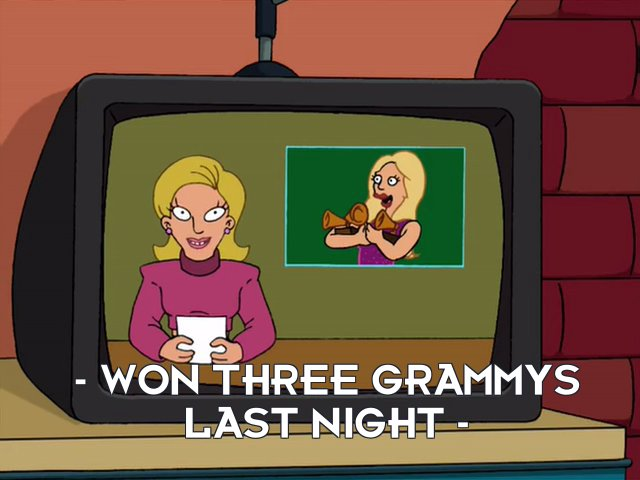 Linda van Schoonhoven: – won three Grammys last night –