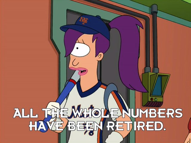Turanga Leela: All the whole numbers have been retired.