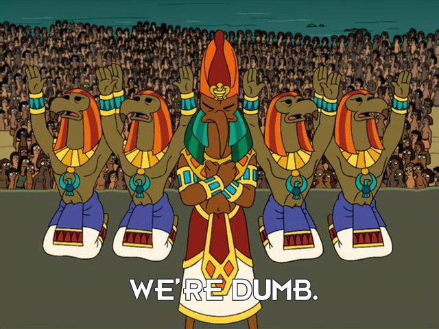 Priests: We're dumb.