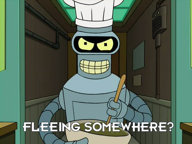 Bender Bending Rodriguez: Fleeing somewhere?