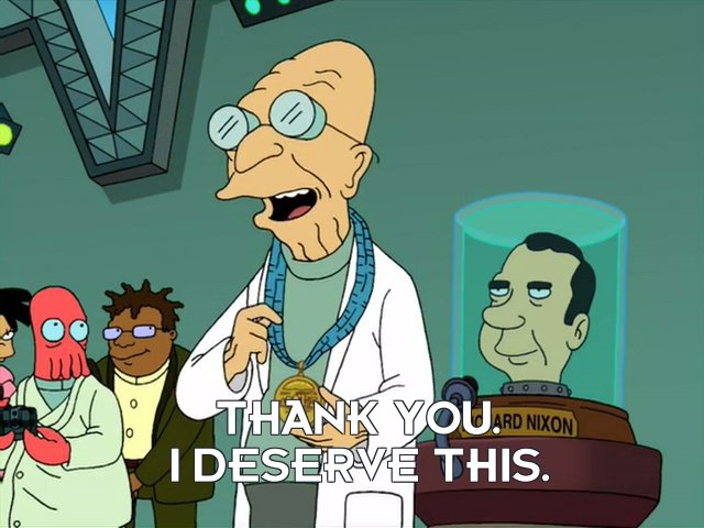 Prof Hubert J Farnsworth: Thank you. I deserve this.