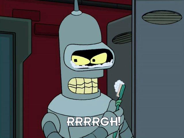 Bender Bending Rodriguez: Rrrrgh!