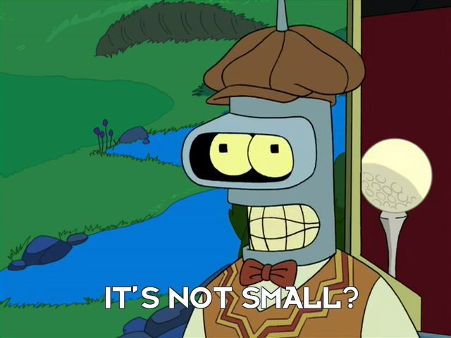 Bender Bending Rodriguez: It's not small?