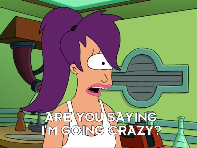 Turanga Leela: Are you saying I'm going crazy?