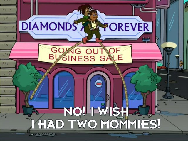 Dwight Conrad: No! I wish I had two mommies!
