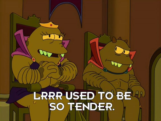 Ndnd: Lrrr used to be so tender.