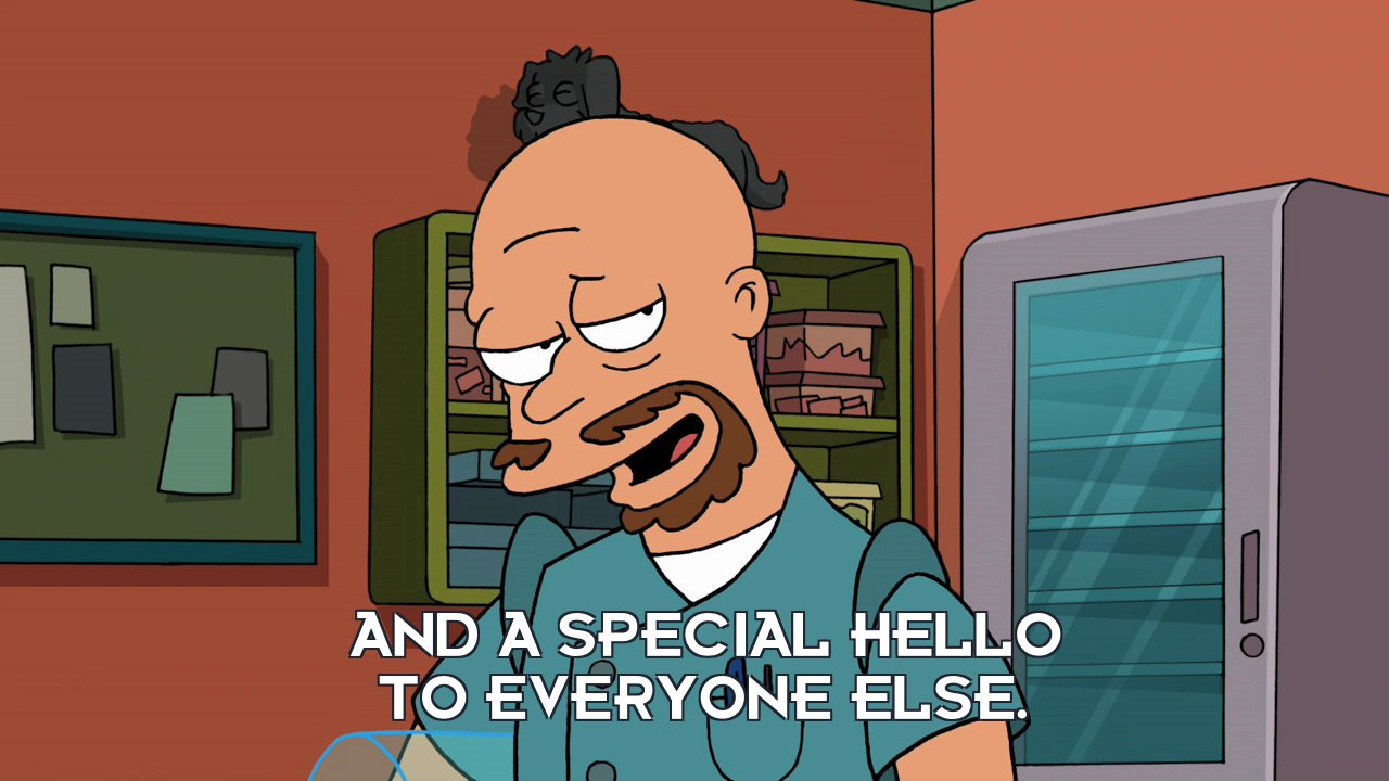 Lars Fillmore: And a special hello to everyone else.
