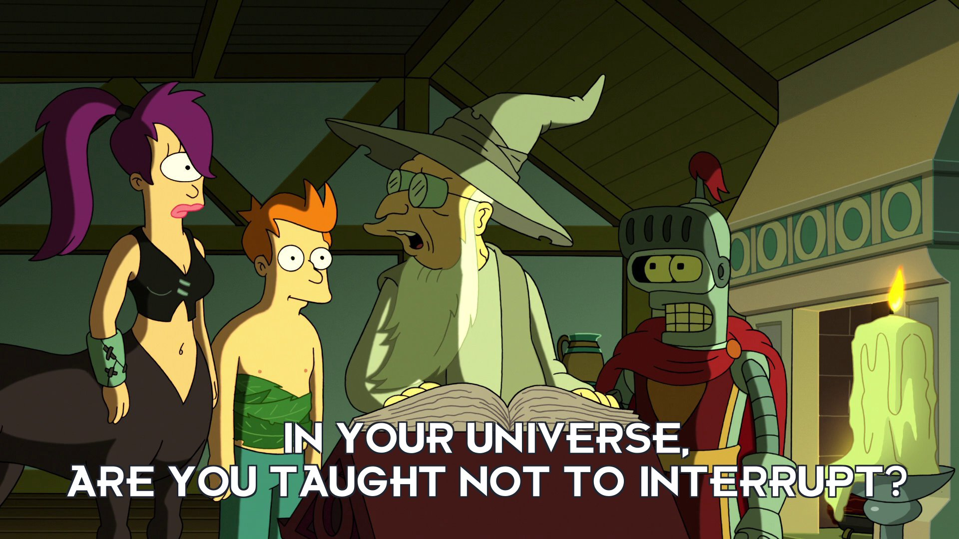 Greyfarn: In your universe, are you taught not to interrupt?