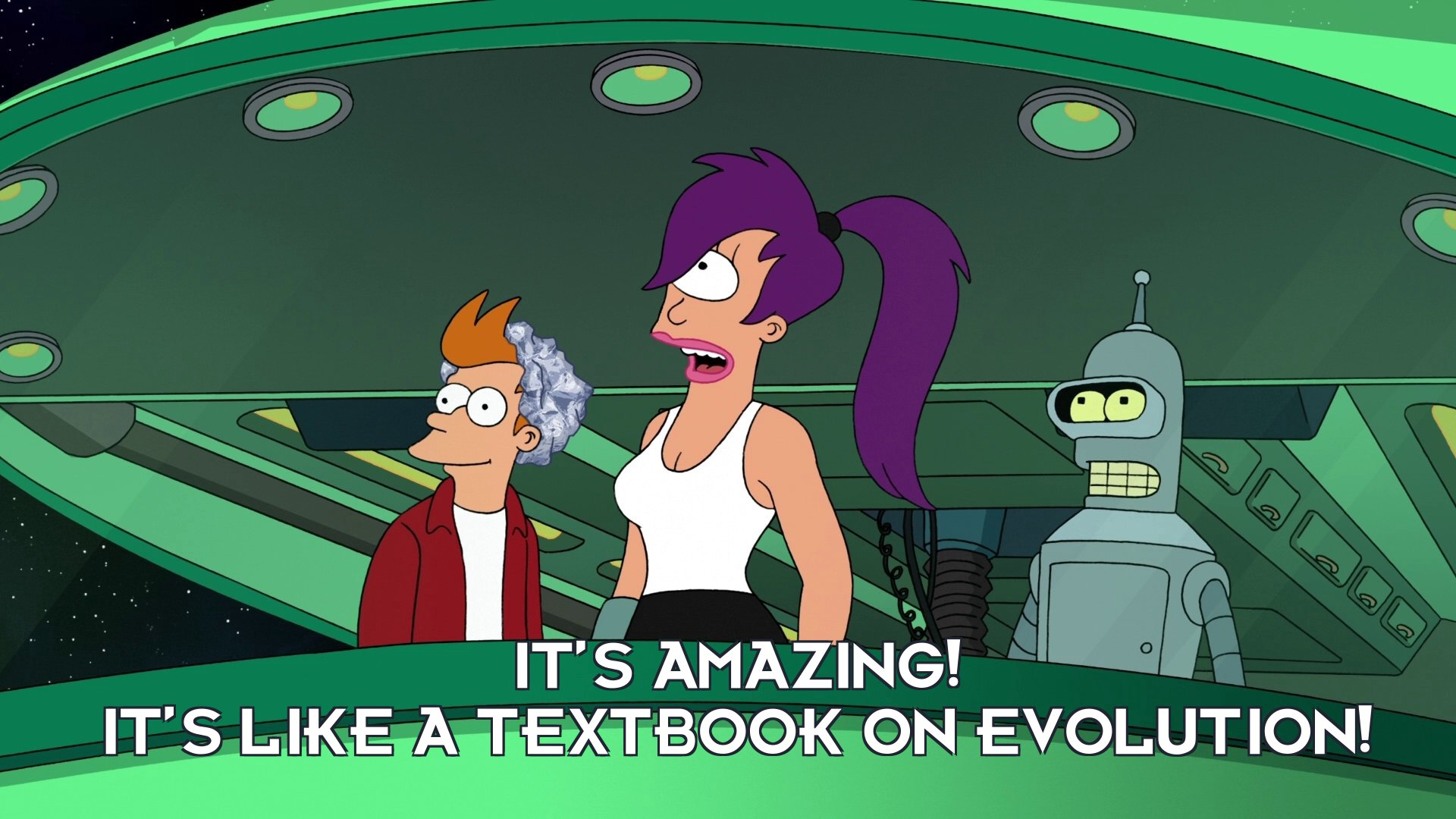 Turanga Leela: It's amazing! It's like a textbook on evolution!