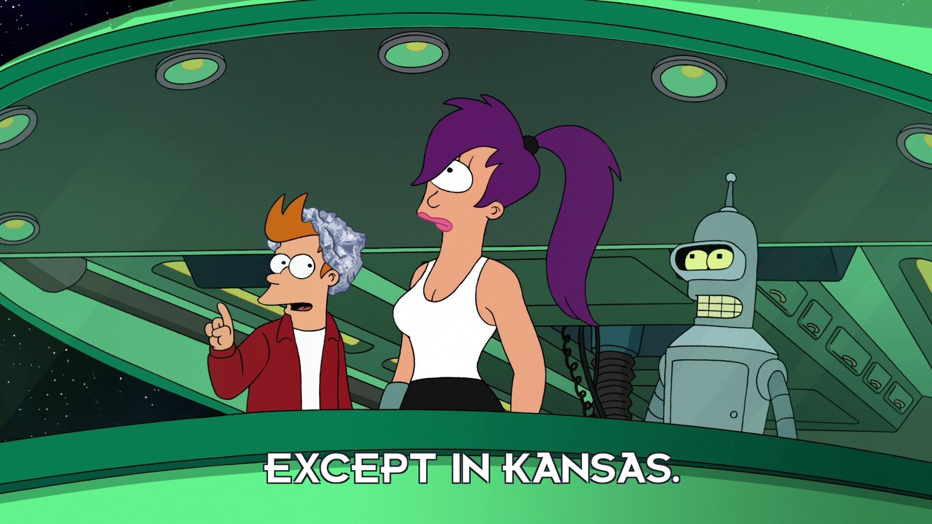 Philip J Fry: Except in Kansas.