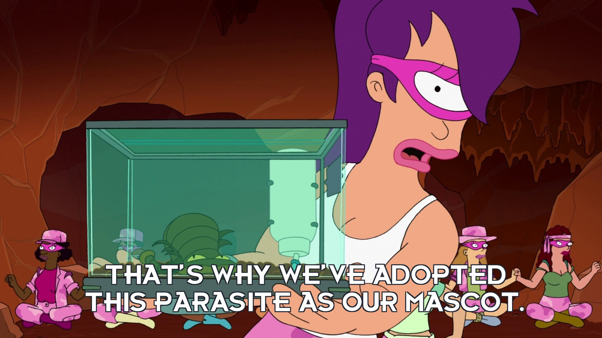 Turanga Leela: That's why we've adopted this parasite as our mascot.