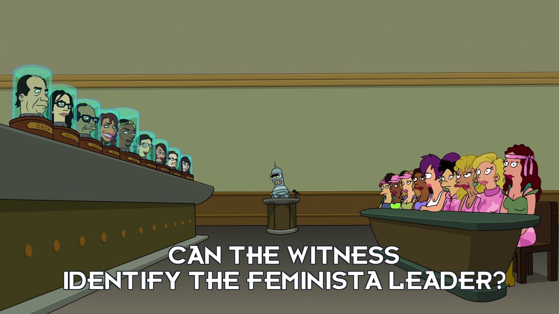 Ruth Bader Ginsburg's head: Can the witness identify the feminista leader?