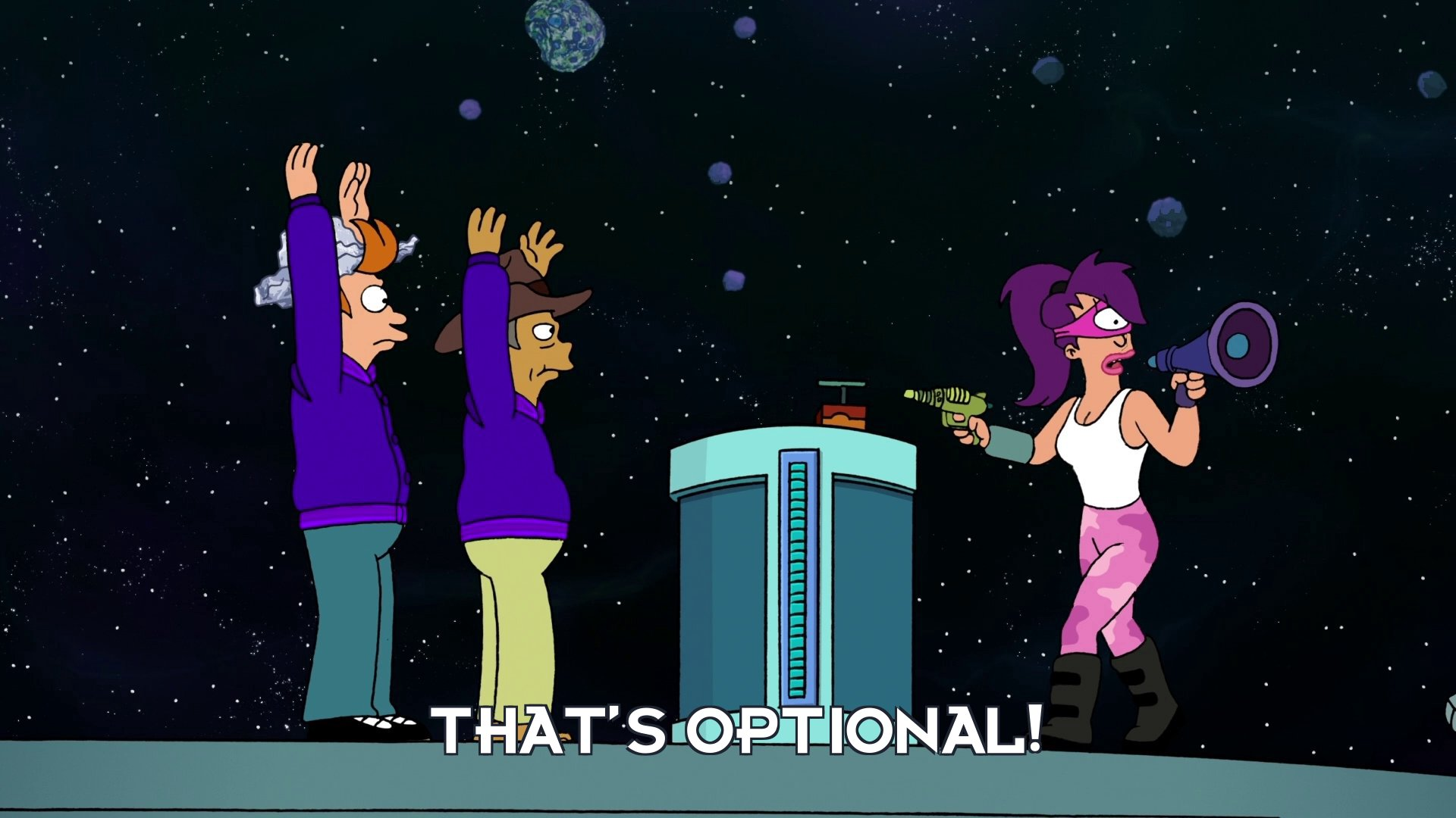 Turanga Leela: That's optional!