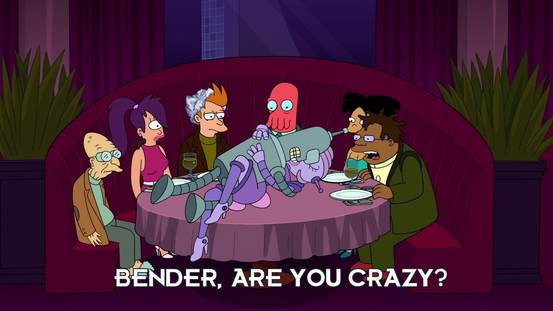 Hermes Conrad: Bender, are you crazy?