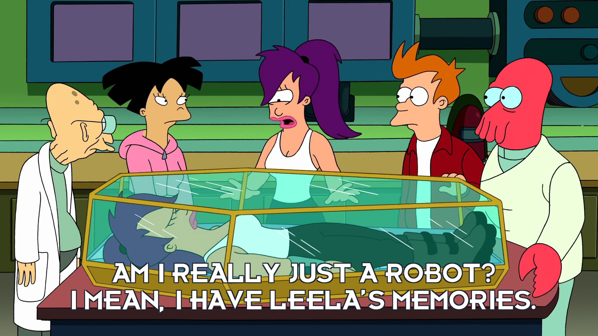 Robot Turanga Leela: Am I really just a robot? I mean, I have Leela's memories.
