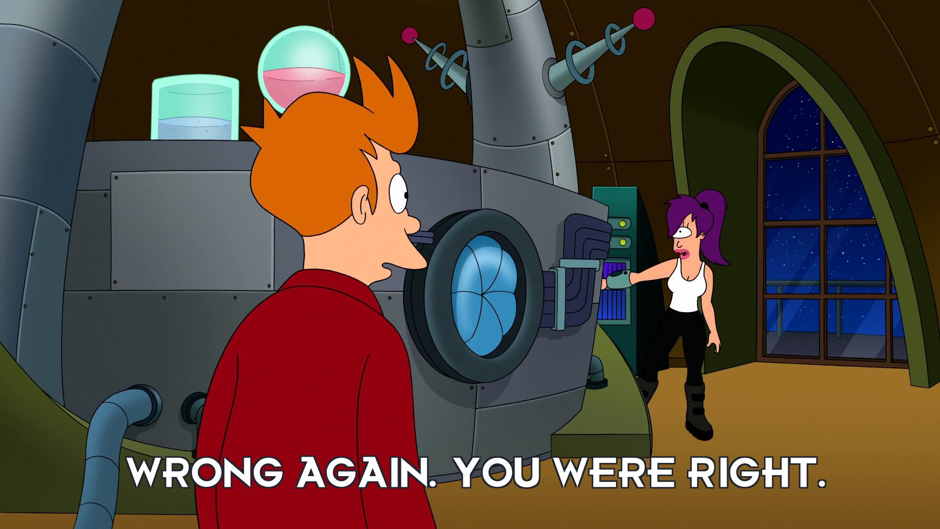 Turanga Leela: Wrong again. You were right.