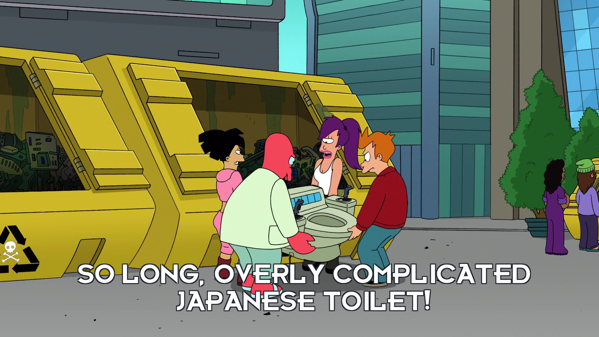 Turanga Leela: So long, overly complicated Japanese toilet!