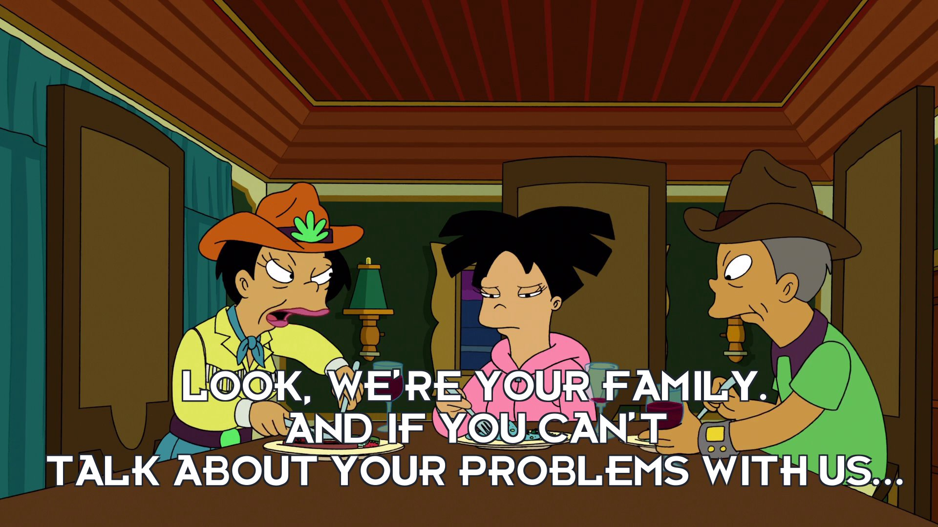 Inez Wong: Look, we're your family. And if you can't talk about your problems with us...