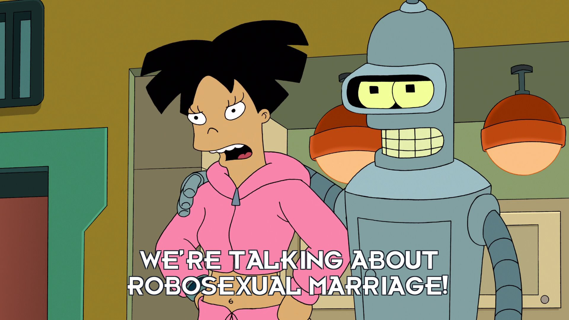 Amy Wong: We're talking about robosexual marriage!