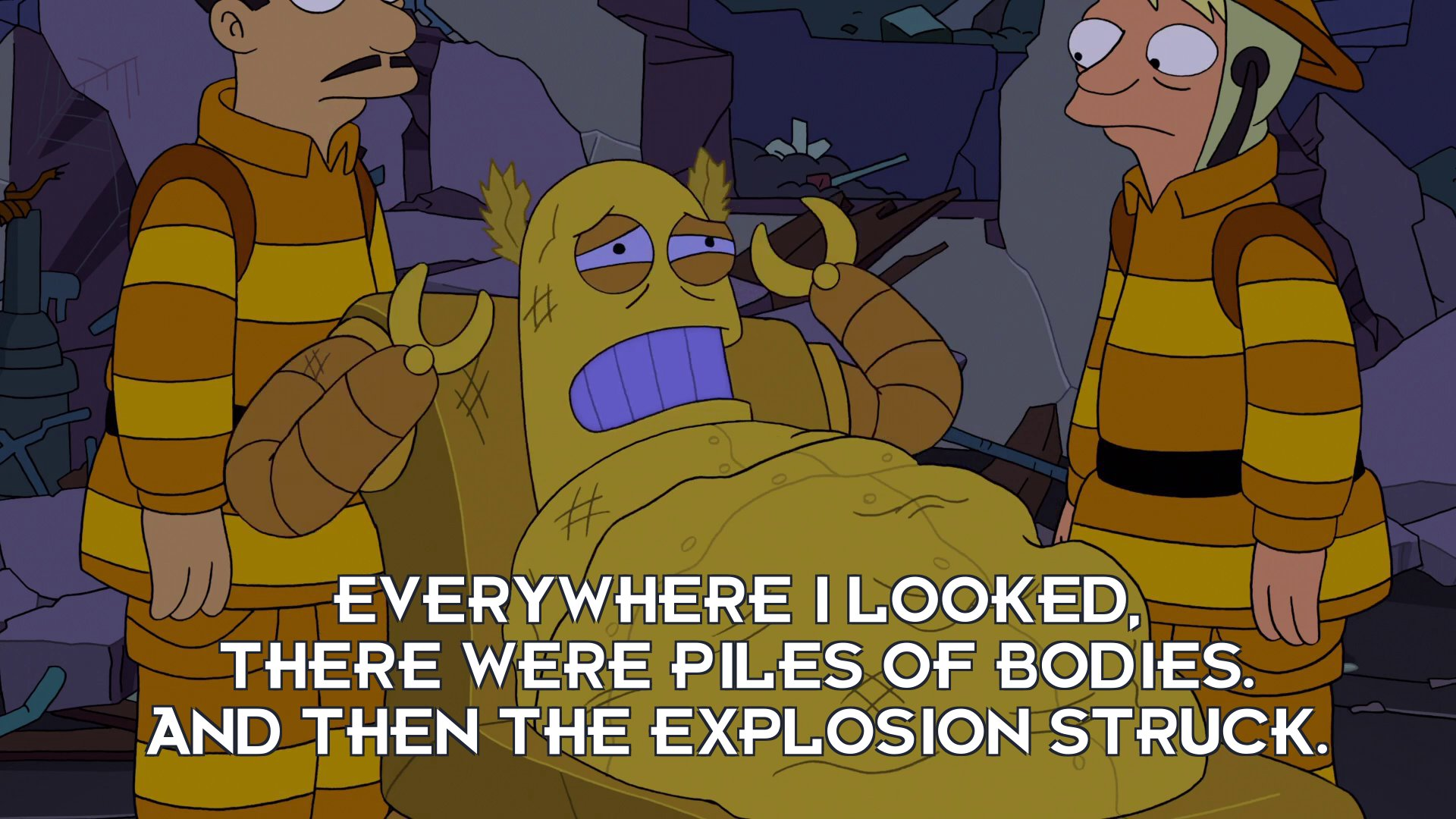 Hedonismbot: Everywhere I looked, there were piles of bodies. And then the explosion struck.