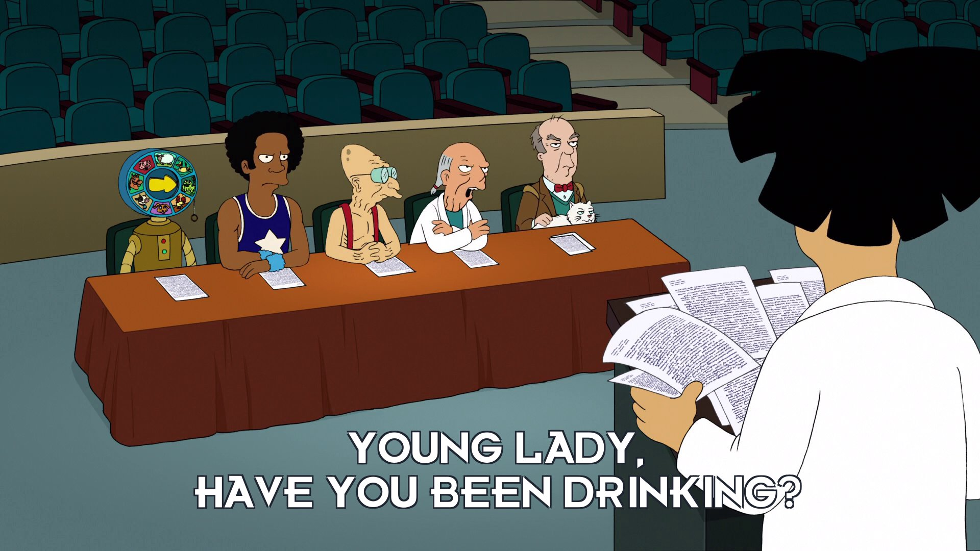 Prof Ogden Wernstrom: Young lady, have you been drinking?