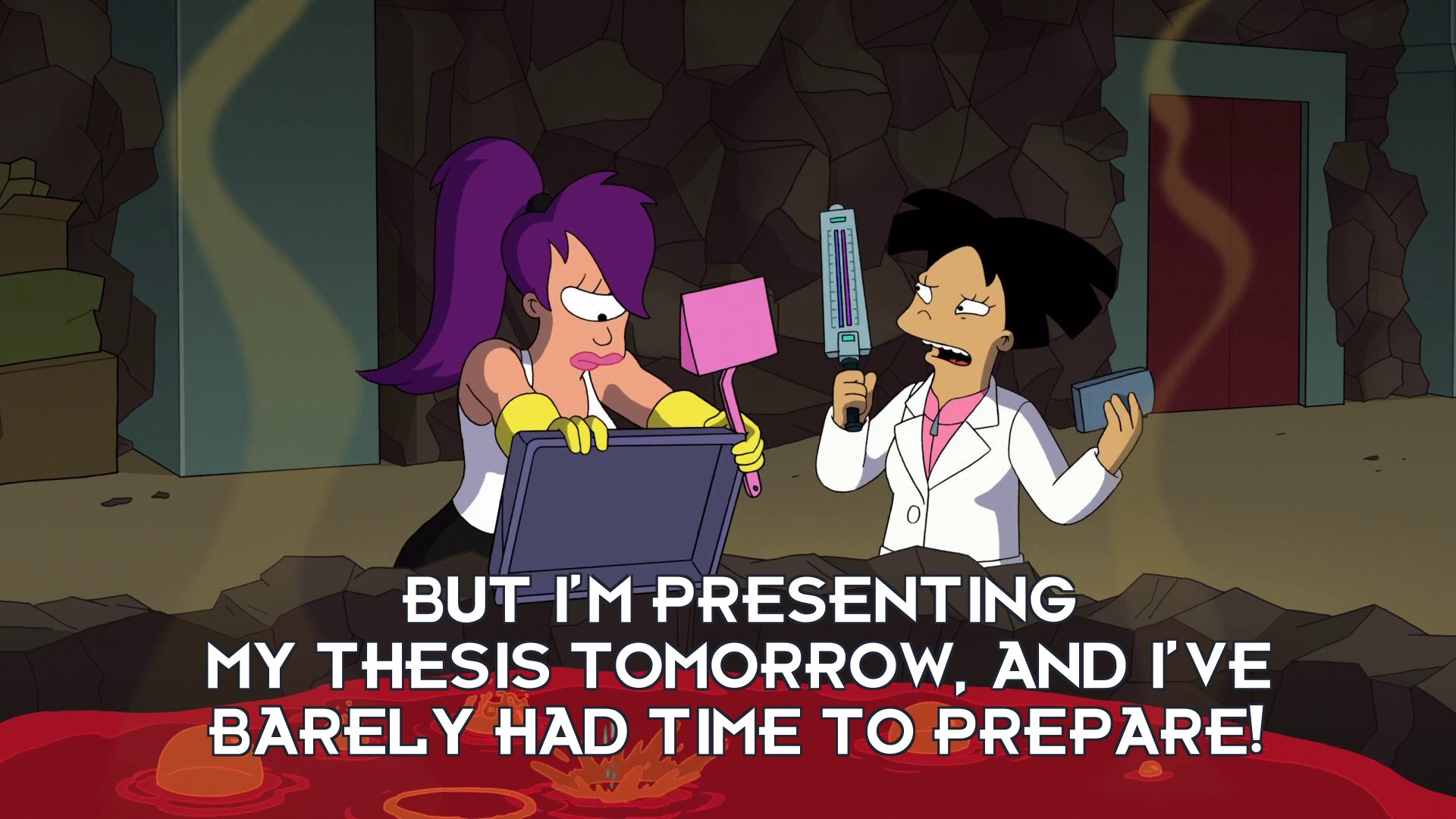 Amy Wong: But I'm presenting my thesis tomorrow, and I've barely had time to prepare!