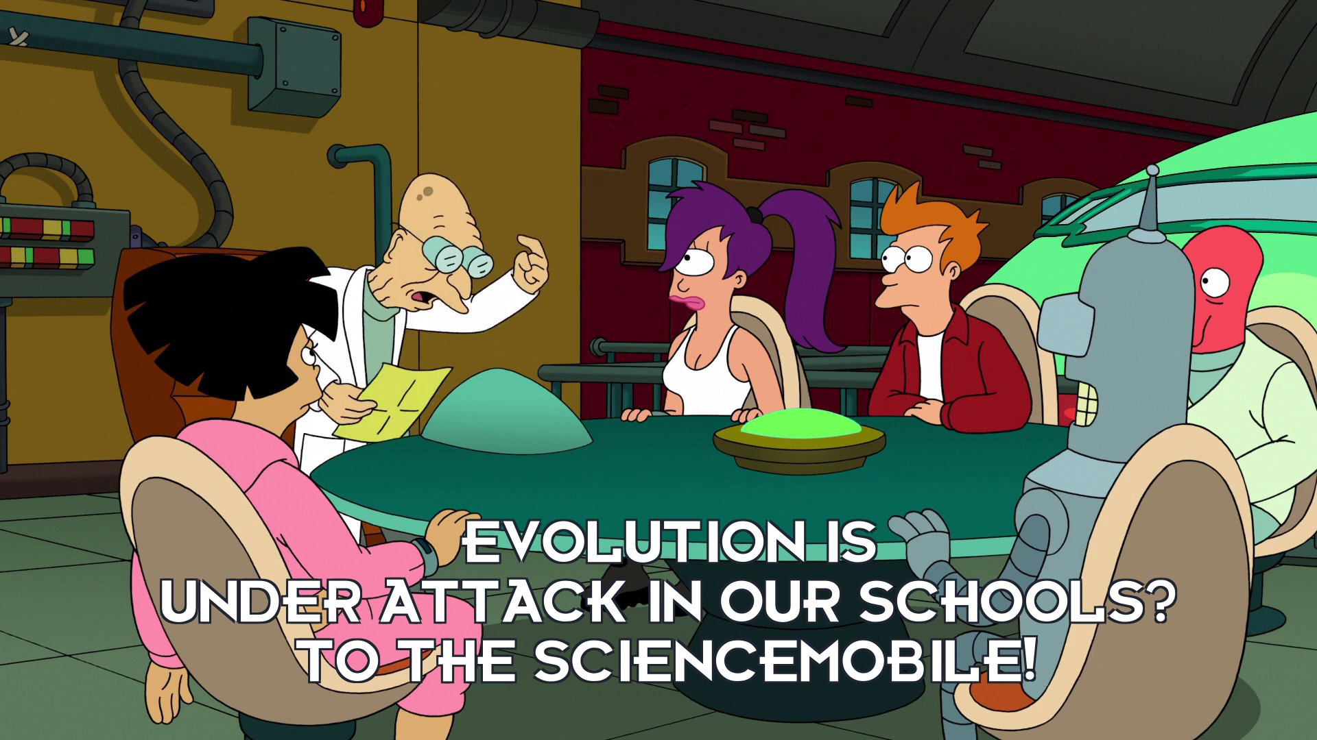 Prof Hubert J Farnsworth: Evolution is under attack in our schools? To the sciencemobile!