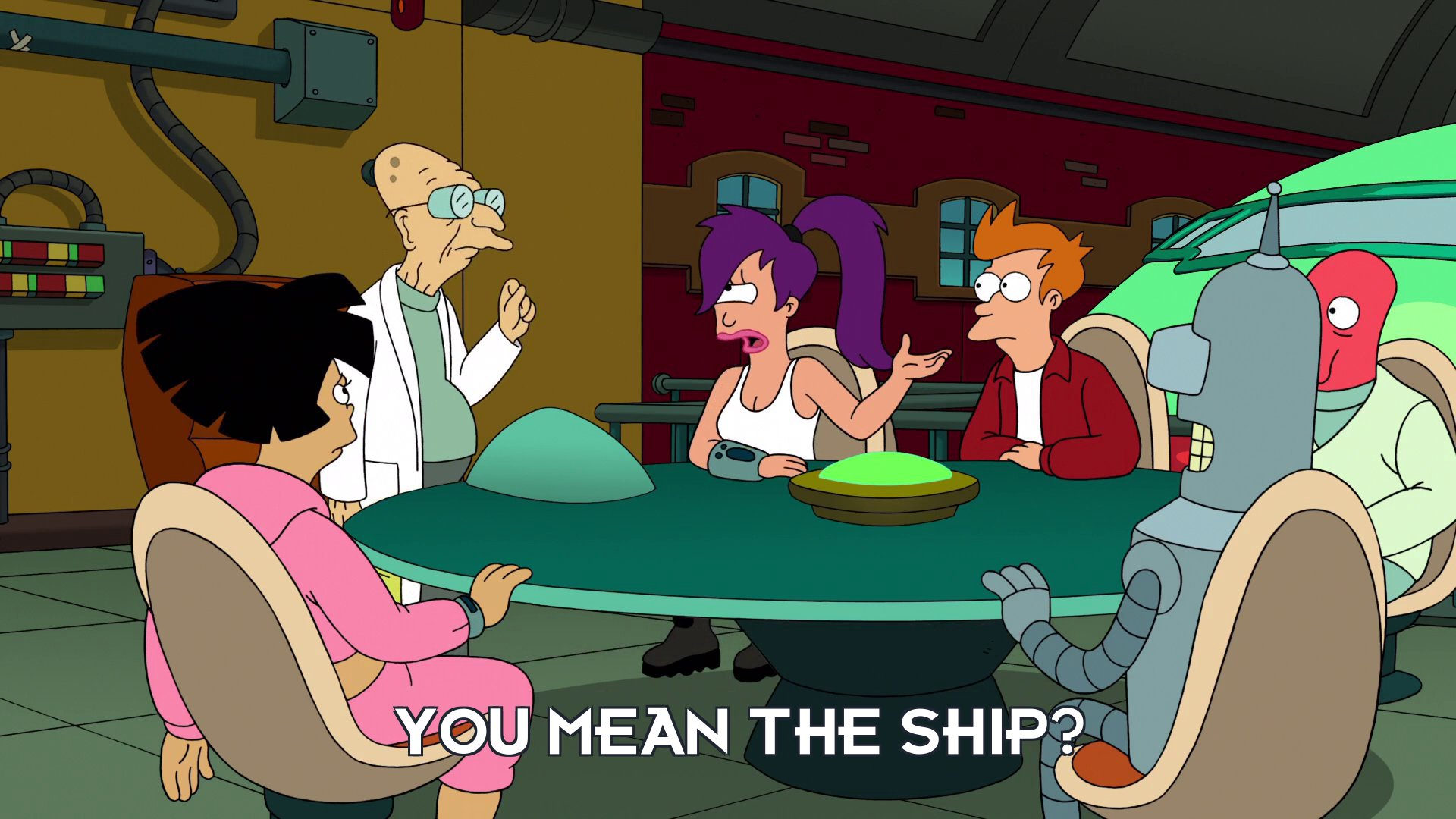 Turanga Leela: You mean the ship?