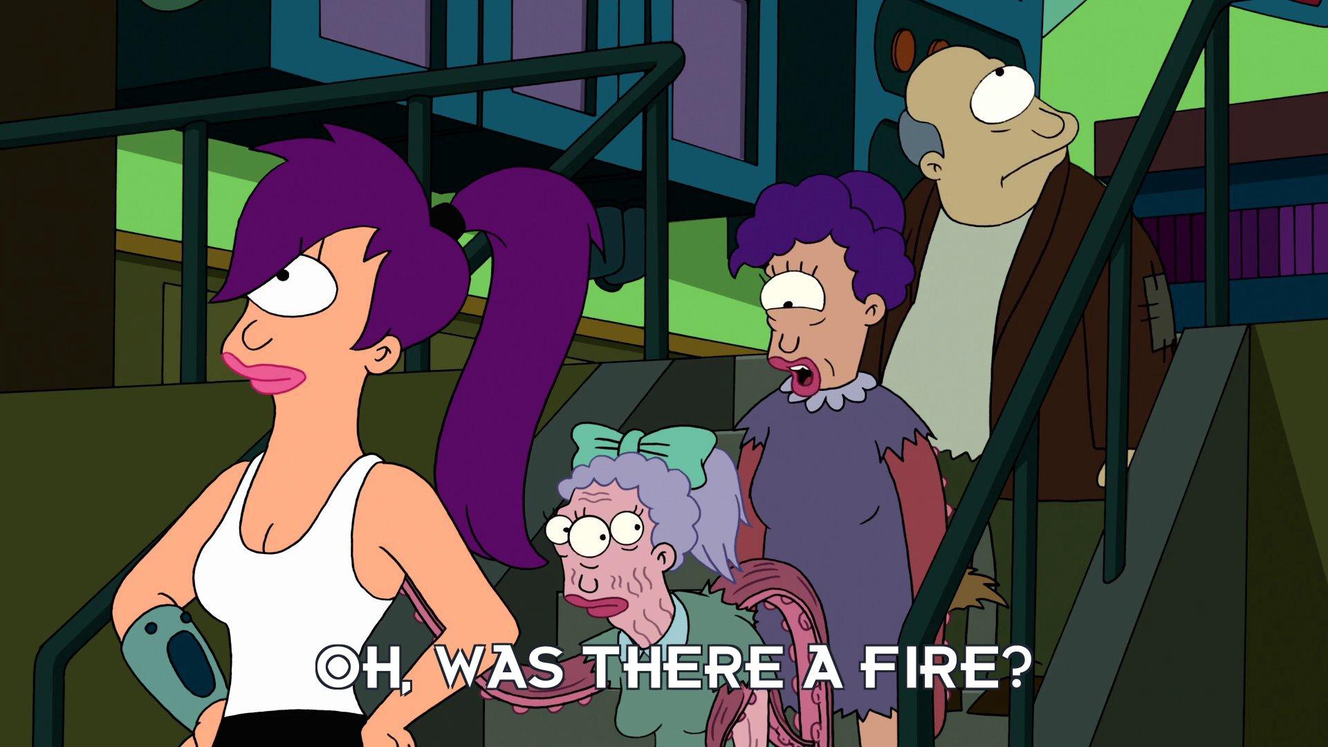 Turanga Munda: Oh, was there a fire?