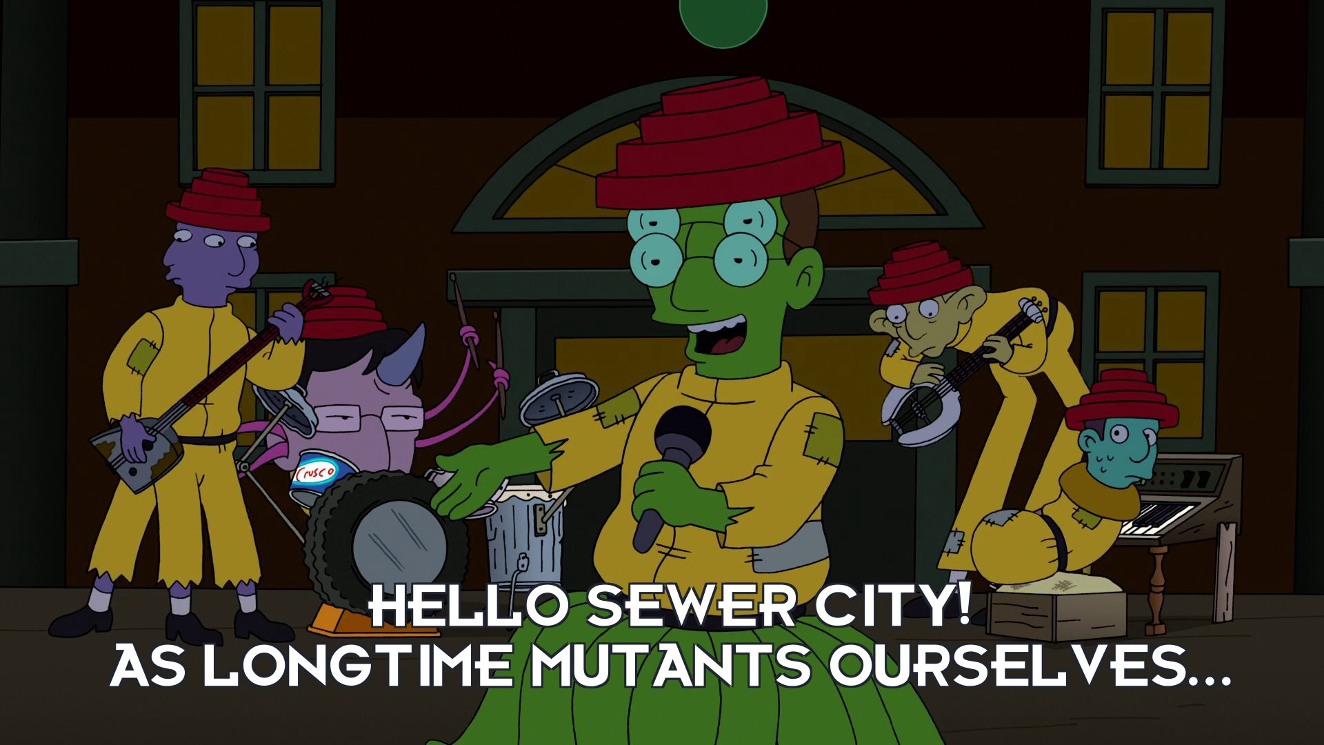 Mutated Mark Mothersbaugh: Hello Sewer City! As longtime mutants ourselves...