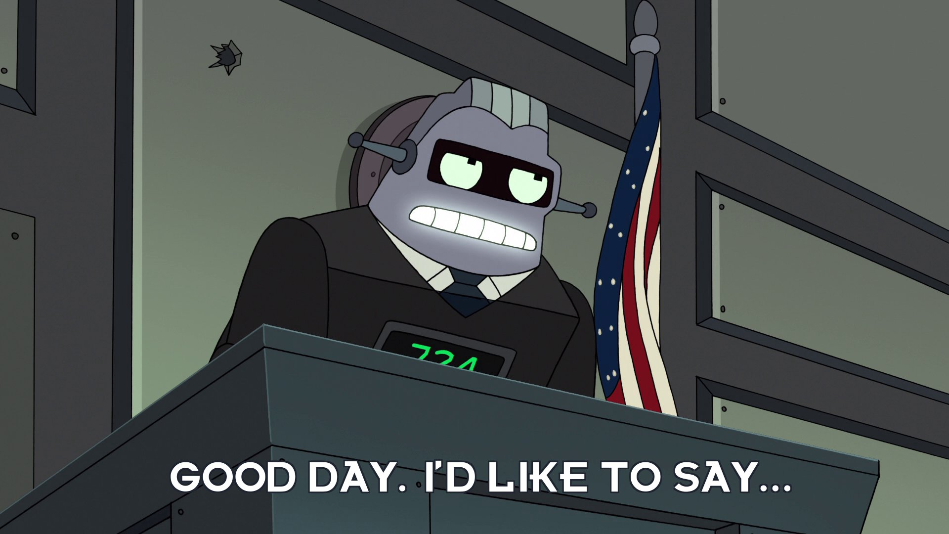 Judge 724: Good day. I'd like to say...