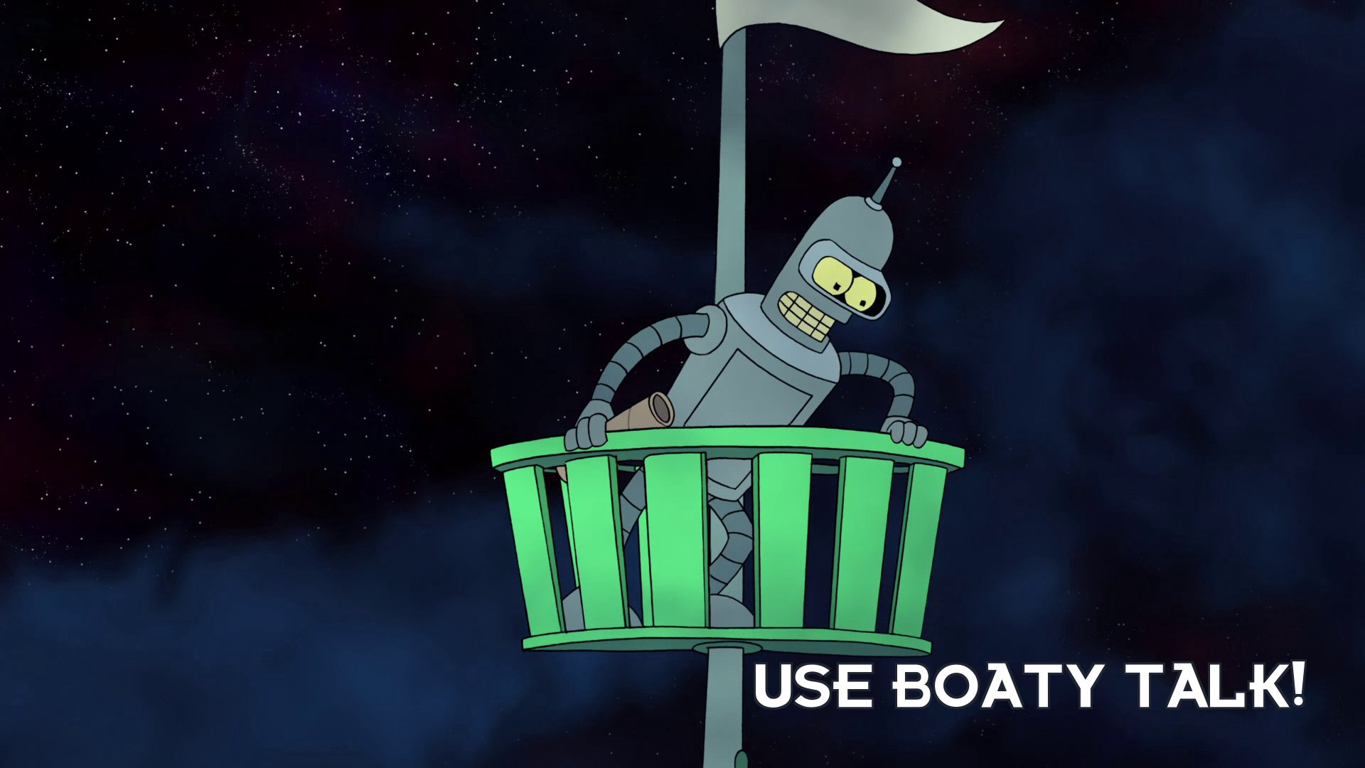 Turanga Leela: Use boaty talk!