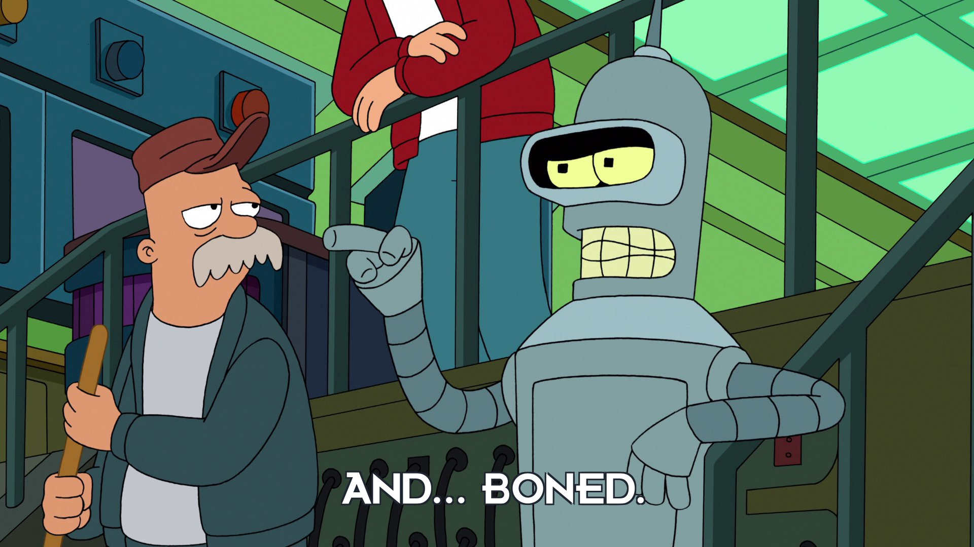 Bender Bending Rodriguez: And... boned.