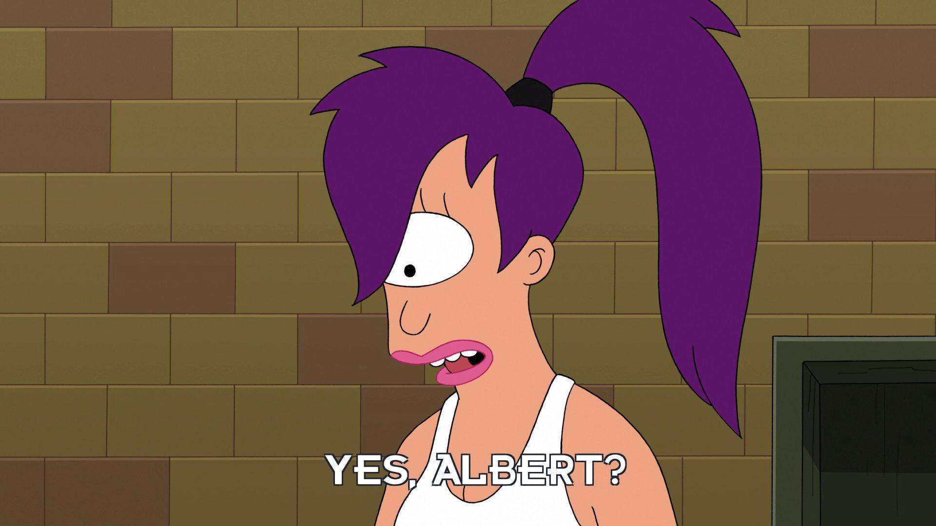 Turanga Leela: Yes, Albert?