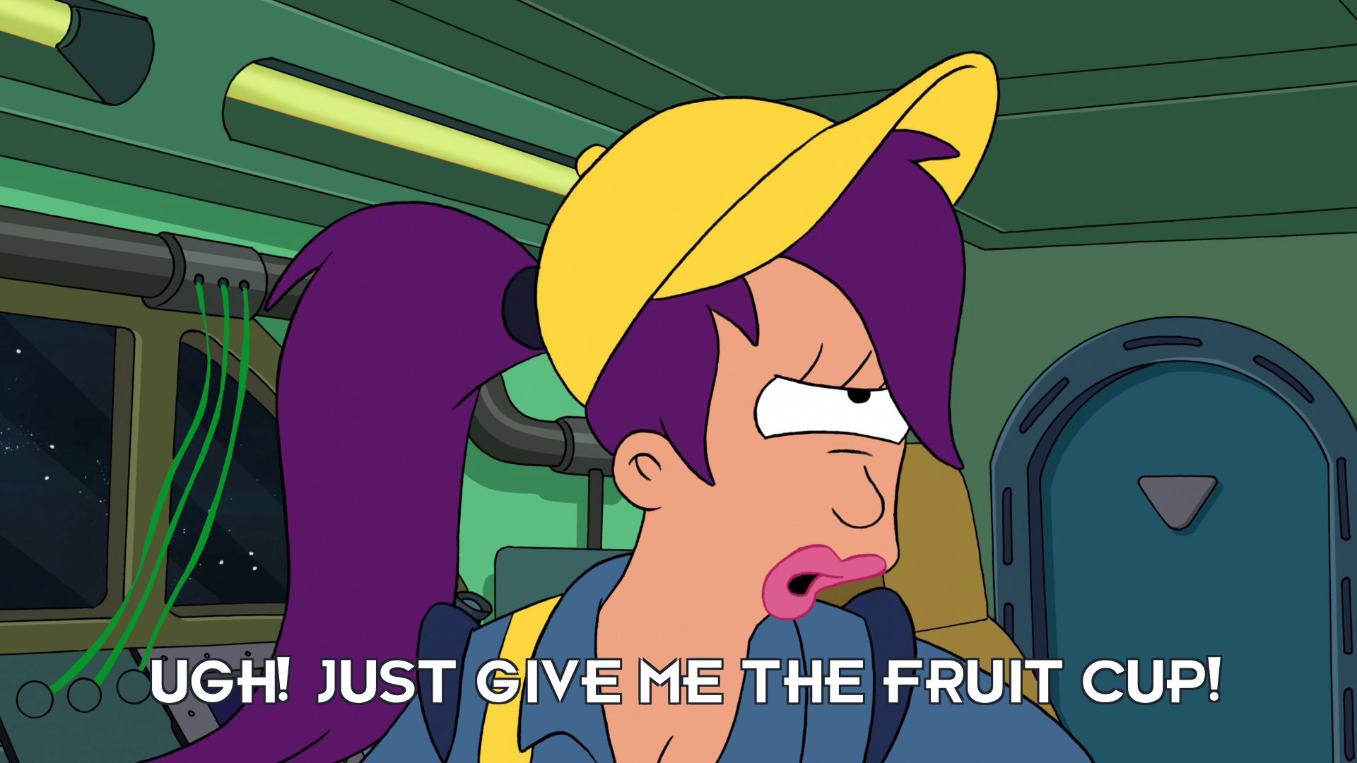 Turanga Leela: Ugh! Just give me the fruit cup!