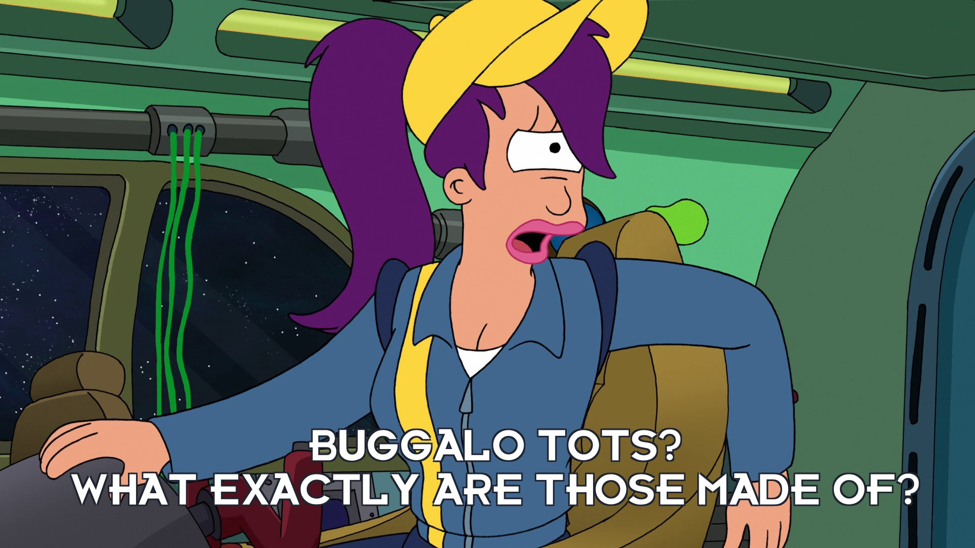 Turanga Leela: Buggalo tots? What exactly are those made of?