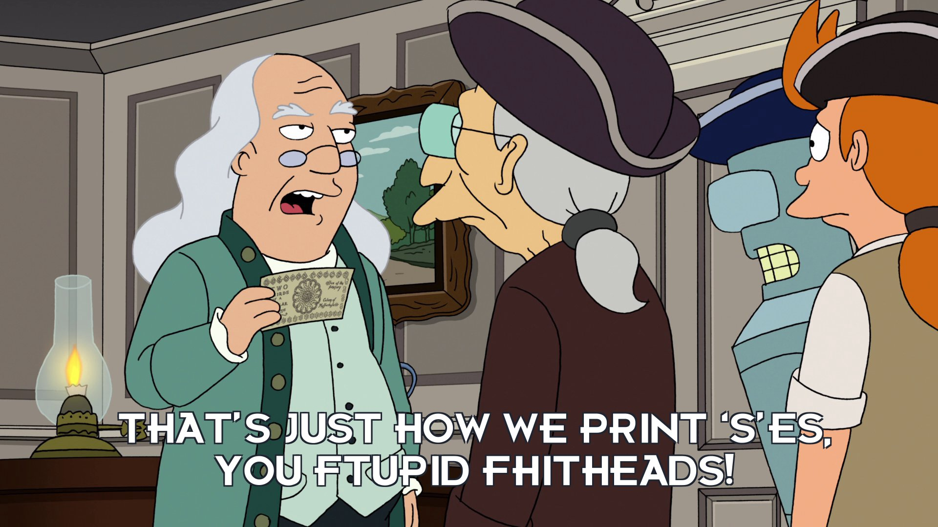 Ben Franklin: That's just how we print 'S'es, you ftupid fhitheads!