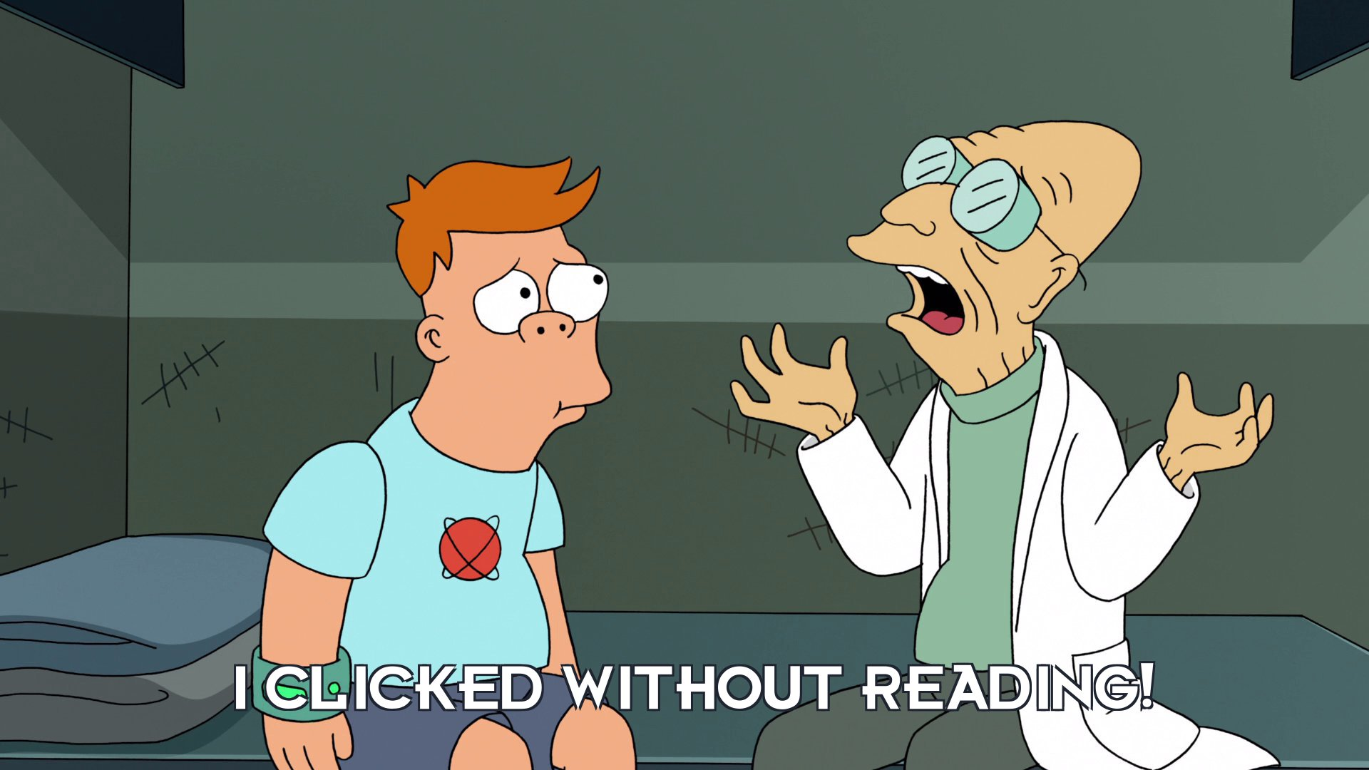 Prof Hubert J Farnsworth: I clicked without reading!
