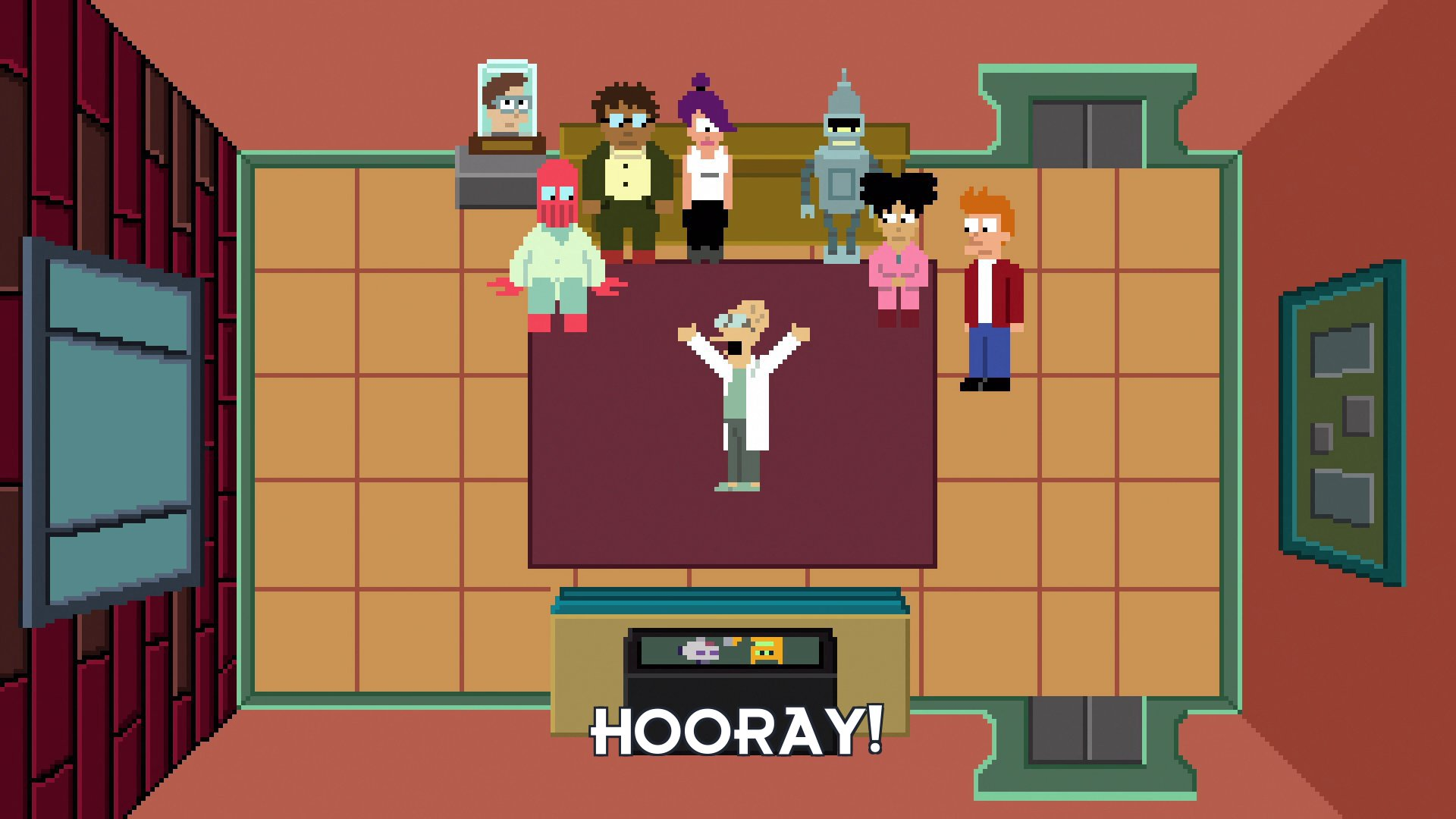 Prof Hubert J Farnsworth: Hooray!