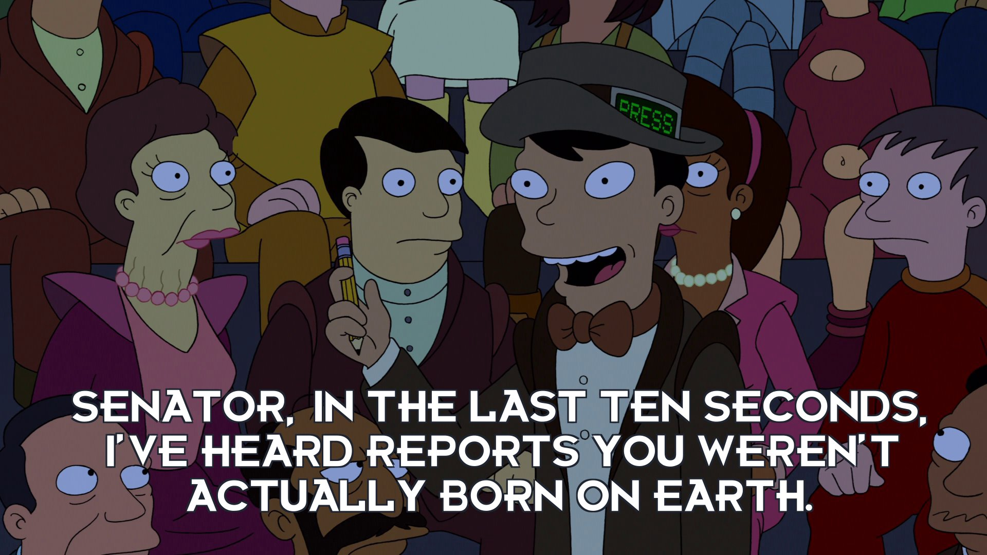 Scoop Chang: Senator, in the last ten seconds, I've heard reports you weren't actually born on Earth.