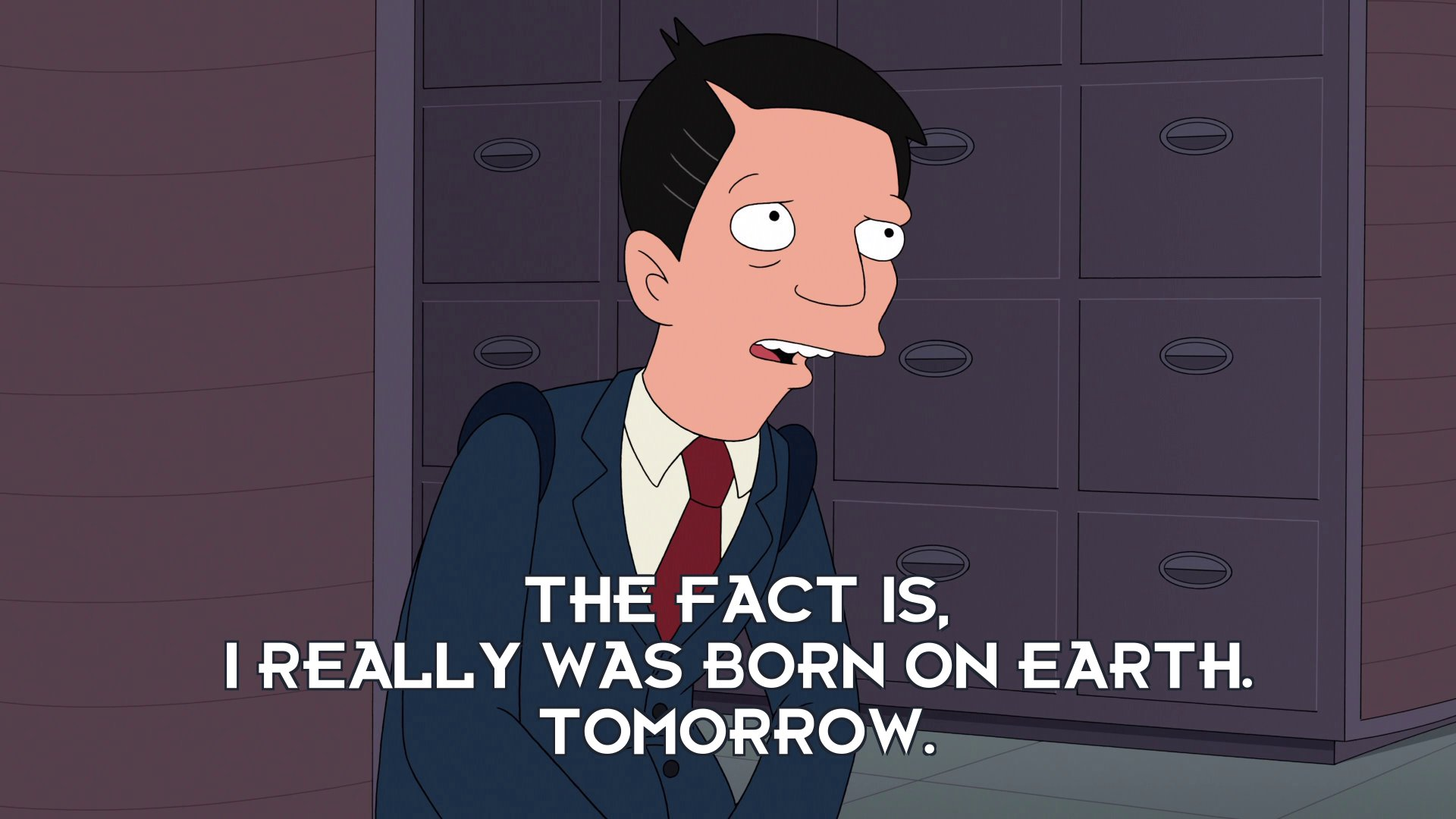 Sen Chris Travers: The fact is, I really was born on Earth. Tomorrow.