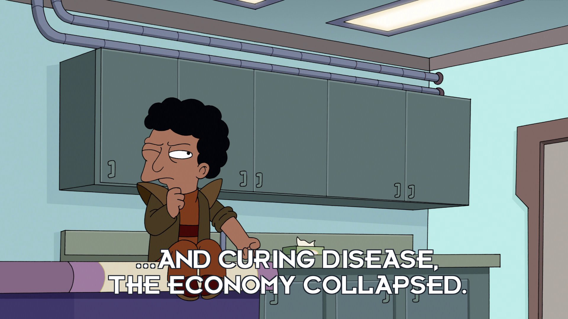 Sen Chris Travers: ...and curing disease, the economy collapsed.