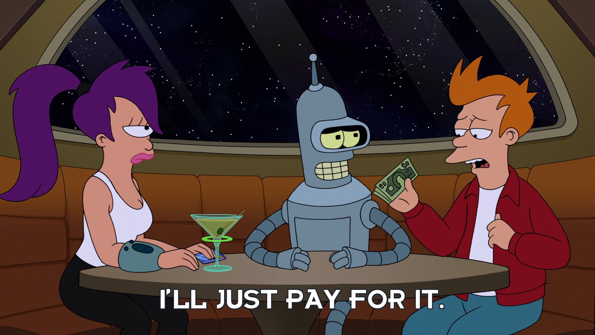 Philip J Fry: I'll just pay for it.
